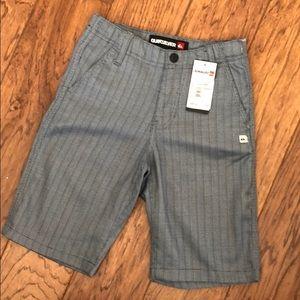 NWT Boys Quicksilver Dress Shorts